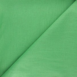 Plain ramie fabric - meadow green x10cm
