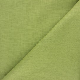 Plain ramie fabric - avocado x10cm