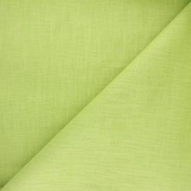 Plain ramie fabric - lime green x10cm