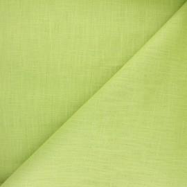 Tissu ramie uni - citron vert x 10cm
