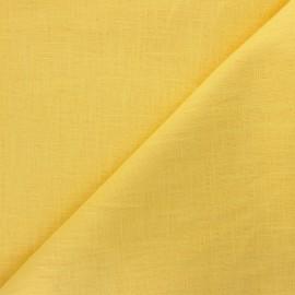 Tissu ramie uni - jaune mimosa x 10cm