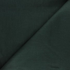 Plain ramie fabric - pine green x10cm
