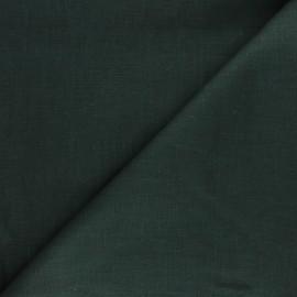 Tissu ramie uni - vert pin x 10cm