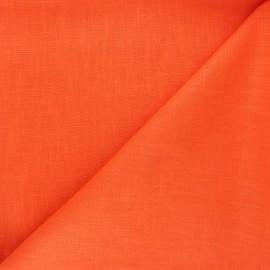 Tissu ramie uni - orange x 10cm