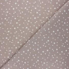 Tissu coton cretonne Atria - taupe x 10cm
