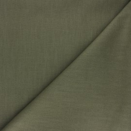 Plain ramie fabric - olive green x 10cm