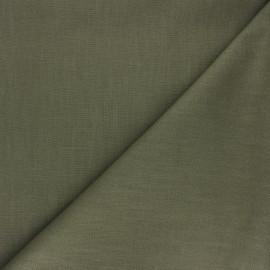 Tissu ramie uni - vert olive x 10cm