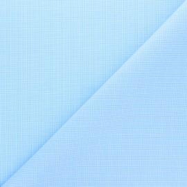 Tissu popeline de coton Clément - bleu ciel x 10cm