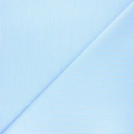Satiny poplin cotton fabric - sky blue Nathaniel x 10cm