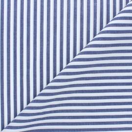 Poplin cotton fabric - denim blue Cyril x 10cm