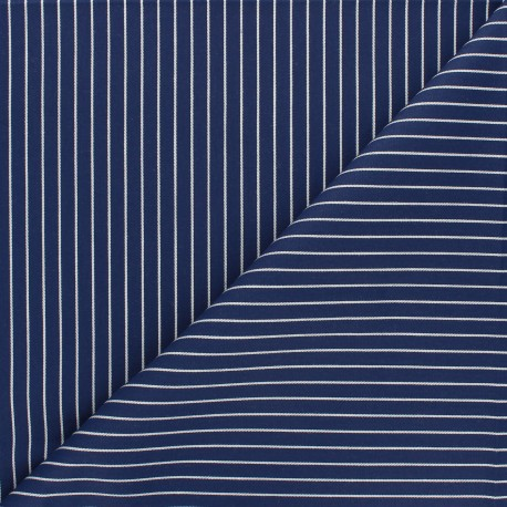 Tissu popeline de coton Léopold - bleu marine x 10cm