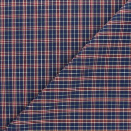 Poplin cotton fabric - navy blue Hugo x 10cm