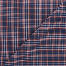 Tissu popeline de coton Hugo - bleu marine x 10cm