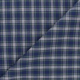 Tissu popeline de coton Paul - bleu marine x 10cm