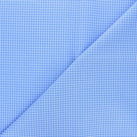 Poplin cotton fabric - blue Emile x 10cm