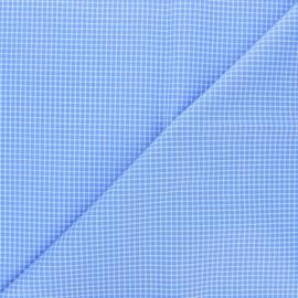 Tissu popeline de coton Émile - bleu x 10cm
