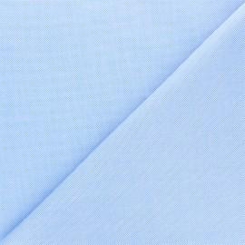 Tissu piqué de coton Louison - bleu layette x 10cm