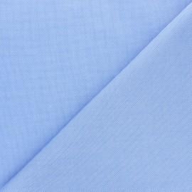 Stitched cotton fabric - sky blue Louison x 10cm