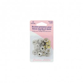 15 mm collar snaps. Nickel - Sewing hobbies