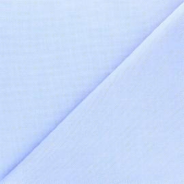 Tissu piqué de coton Olympe - bleu x 10cm