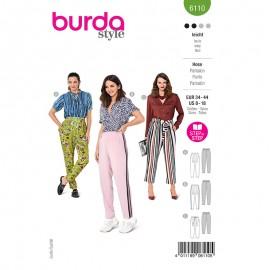Patron pantalon ample Femme - Burda n°6148