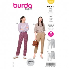 Straight pants sewing pattern - Burda Style n°6101