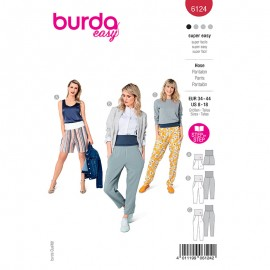 Pants sewing pattern - Burda Style n°6124