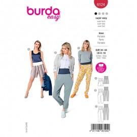 Patron pantalon ceinture large Femme - Burda n°6124