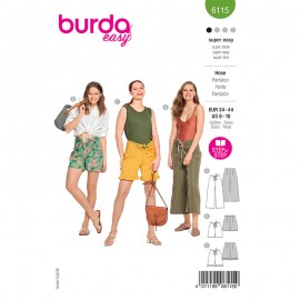 Sliding pants sewing pattern - Burda Style n°6115
