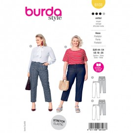 Plus size straight pants sewing pattern - Burda Style n°6103