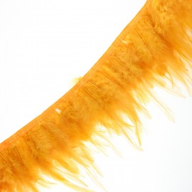 Pearly effect Feather braid 10cm - curry x 50cm
