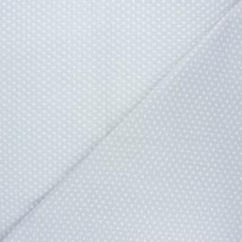 Tissu coton cretonne Ptitcoeur - gris x 10cm