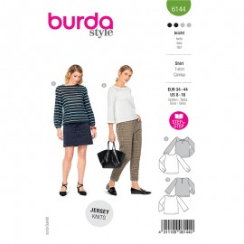 Long sleeve t-shirt sewing pattern - Burda Style n°6144