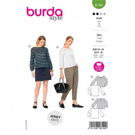 Patron t-shirt manches longues Femme - Burda n°6144