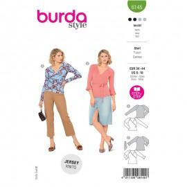 Patron t-shirt cache cœur Femme - Burda n°6145