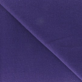 Knitted Jersey 1/2 tubular edging fabric x 10 cm - purple