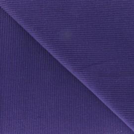 Tissu jersey tubulaire bord-côte 1/2 violet x 10cm
