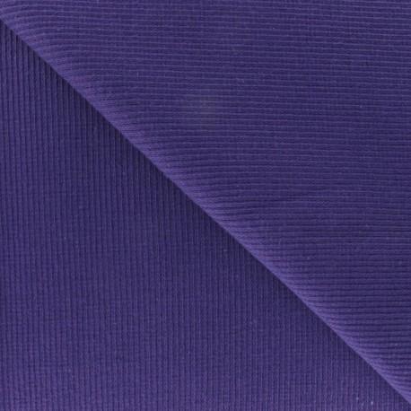 Knitted Jersey 1/2 tubular edging fabric x 10 cm - purple