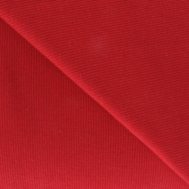 Knitted Jersey 1/2 tubular edging fabric x 10 cm - red