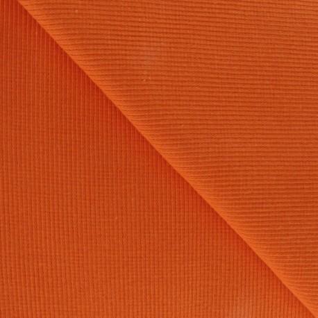 Knitted Jersey 1/2 tubular edging fabric x 10 cm - orange
