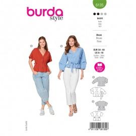 Patron blouse col V Femme - Burda n°6135