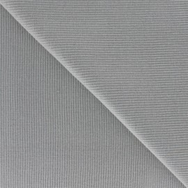 Bord-côte 1/2 Tubular Jersey Fabric - Mouse Grey x 10cm