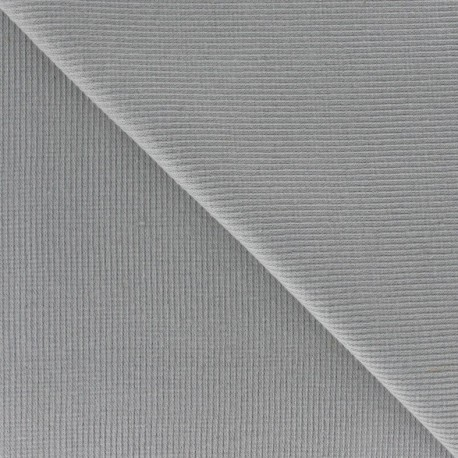 Bord-côte 1/2 Tubular Jersey Fabric - Mouse Grey x 10cm
