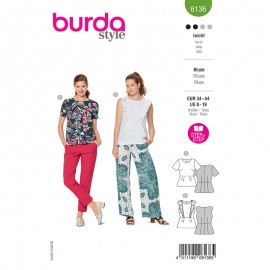 Blouse sewing pattern - Burda Style n°6136