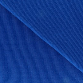 Knitted Jersey 1/2 tubular edging fabric x 10 cm - royal blue