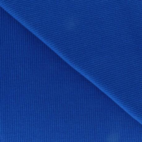 Knitted Jersey 1/2 tubular edging fabric x 10 cm - royal blue