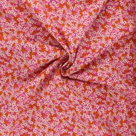 Tissu popeline de coton AGF The Flower Society - Retro Prairie Blush x 10cm