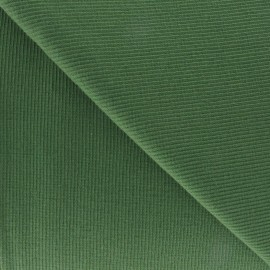 Knitted Jersey 1/2 tubular edging fabric x 10 cm - moss