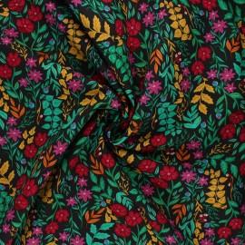 Tissu popeline de coton AGF The Flower Society - Luminous Floriculture x 10cm