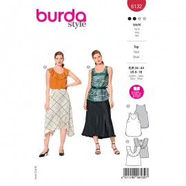 Top sewing pattern - Burda Style n°6132